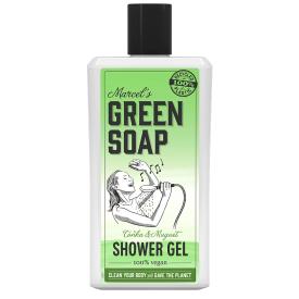 Dušo želė MARCELS GREEN SOAP su tonka pupelėmis ir pakalnutėmis, 500 ml