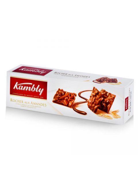Sausainiai KAMBLY su migdolų drožlėm ir šokoladu, 80g