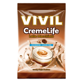 Kavos Latte Macchiato skonio saldainiai VIVIL be cukraus, 60 g