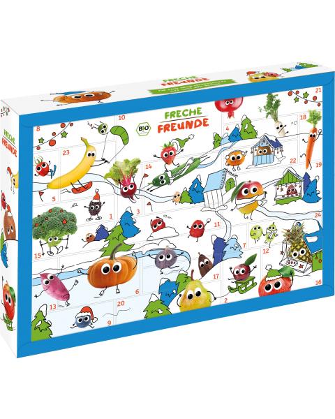 Advento kalendorius su ekologiškais užkandžiais ir priedais FRECHE FREUNDE 2,2 kg