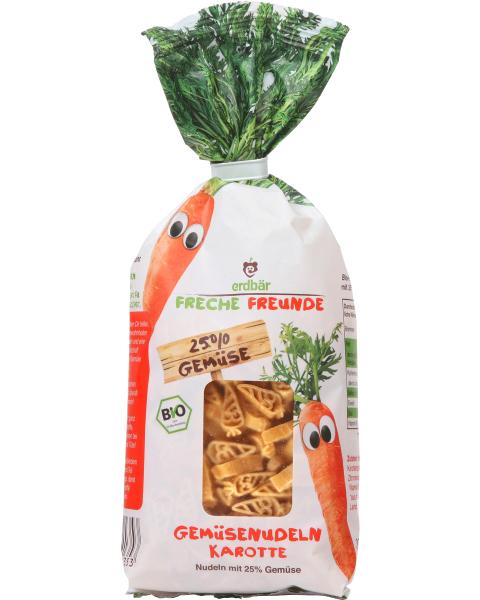 Ekologiški makaronai su morkomis FRECHE FREUNDE, 300 g