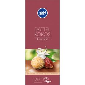 Ekologiški vaisių rutuliukai LUBS su datulėmis ir kokosu, 100 g