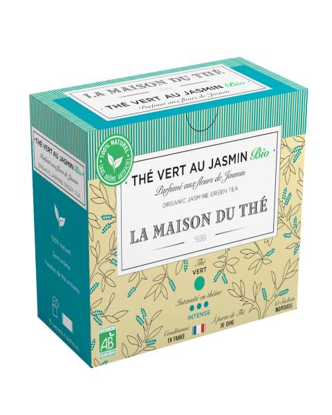 Ekologiška žalioji arbata LA MAISON DU THE Jasmine Green Tea, 15 maišelių