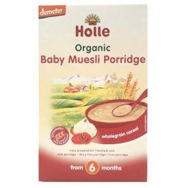 Ekologiška dribsnių košė HOLLE su vaisiais be pieno kūdikiams nuo 6 mėn., 250 g