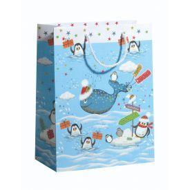 Dovanų maišelis ZOEWIE Christmas Whale (26x13.5x33.5 cm), 1 vnt.