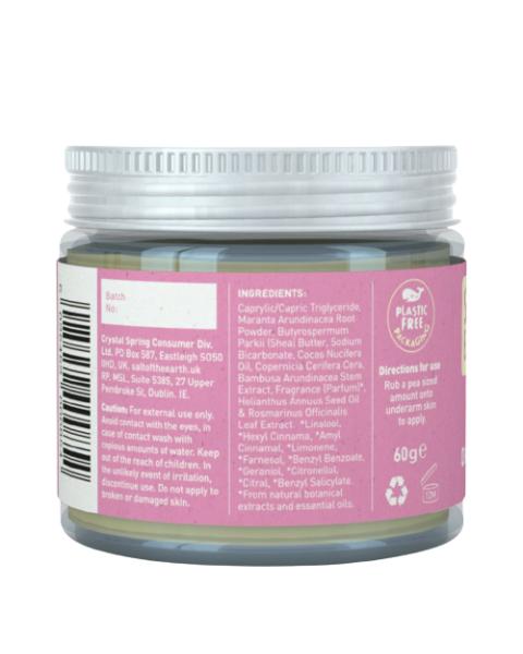 Natūralus tepamas dezodorantas SALT OF THE EARTH su bijūnų žiedais, 60 g 2