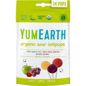 Ekologiški rūgštūs ledinukai YUMEARTH 3 skonių be gliuteno ant pagaliuko, 85 g