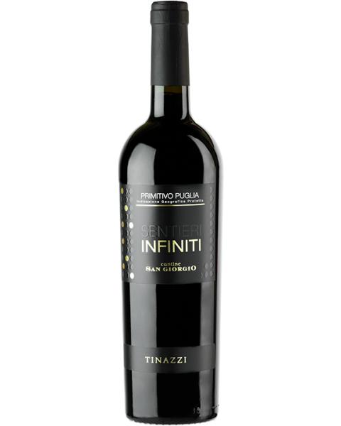 Raudonas sausas vynas Sentieri Infiniti Primitivo IGP 14%, 750 ml