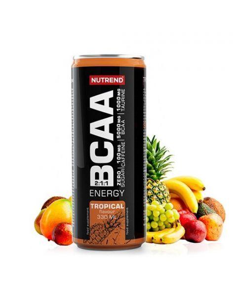 Gėrimas NUTREND BCAA ENERGY tropinių vaisių skonio, 330 ml