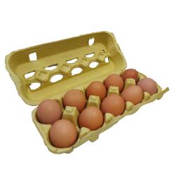 Ekologiški vištų kiaušiniai ūk. S. KAZLAUSKAS, 10vnt.