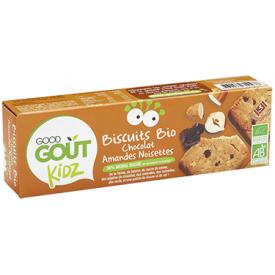 Ekologiški šokoladiniai sausainiai GOOD GOUT su migdolais ir lazdyno riešutais, 110 g