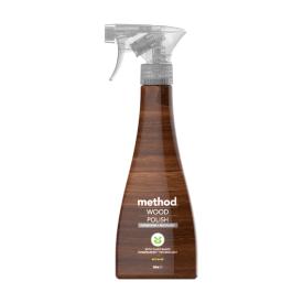Poliruojantis purškiamas medinių paviršių valiklis METHOD, migdolų aromato, 354 ml