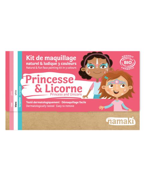 """Ekologiškų dažų veidui rinkinys NAMAKI """"Princesė ir vienaragis"""" (3 spalvos), 1 vnt. 2"""
