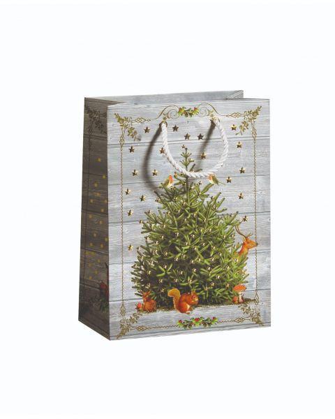 Dovanų maišelis ZOEWIE Sparkly Tree (17x9.2x22.5 cm), 1 vnt.