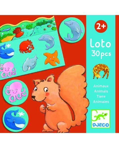 Edukacinis loto žaidimas DJECO Animals (DJ08120), 1 vnt.