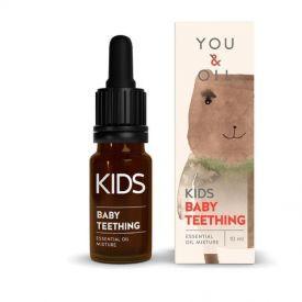 Eterinių aliejų mišinys aromaterapijai vaikams YOU&OIL Dantukams, 10 ml