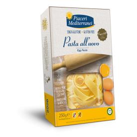 Makaronai su kiaušiniais PIACERI MEDITERRANEI, be gliuteno , 250 g