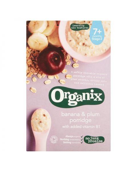 Ekologiška košė ORGANIX su bananais ir slyvomis kūdikiams nuo 7 mėn., 200 g