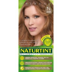 Ilgalaikiai plaukų dažai be amoniako NATURTINT 7G šviesi aukso, 165 ml