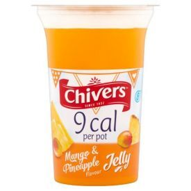 Mangų ir ananasų skonio želė CHIVERS indelyje, 150 g
