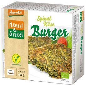 Šaldyti veganiški paplotėliai su špinatais ir sūriu HANSEL&GRETEL, biodinaminiai, 4 x75g