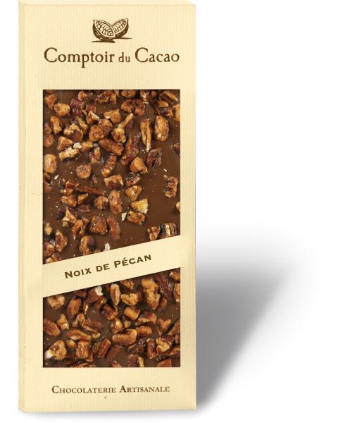 Pieninis šokoladas COMPTOIR du CACAO, su karamelizuotais pekano riešutais, 90 g