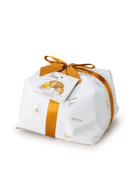 Itališkas pyragas Panettone LOISON su amareto glaistu, 1000 g
