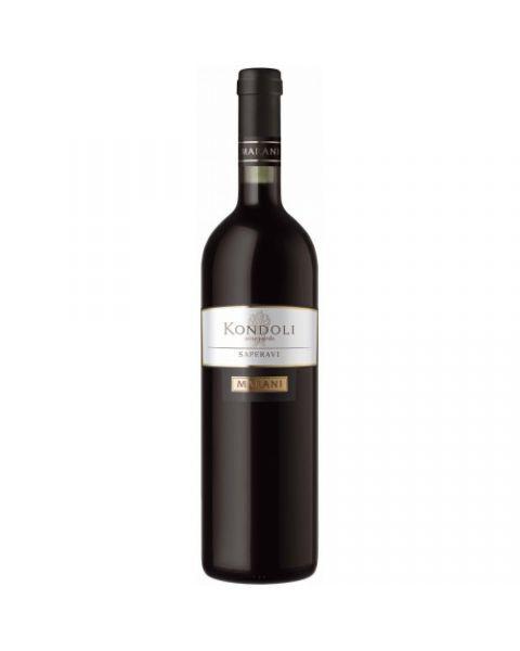 Raudonas sausas vynas KONDOLI Saperavi 13%, 750 ml