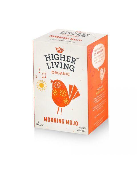 Ekologiška arbata HIGHER LIVING MORNING MOJO 25g