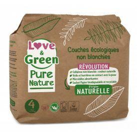 Ekologiškos Love&Green sauskelnės, 4 dydis, 7 - 14 kg, 38 vnt
