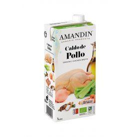 Ekologiškas vištienos sultinys AMANDIN, 1000 ml