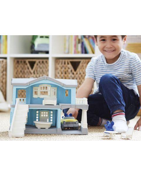 """Žaislų rinkinys """"Žydras namas"""" GREEN TOYS ™ (10 dalių), 1 vnt. 7"""