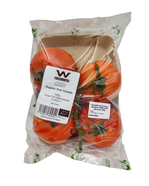 Ekologiški pomidorai su šakelėmis FRESHWISE (fasuotos), 500g 2