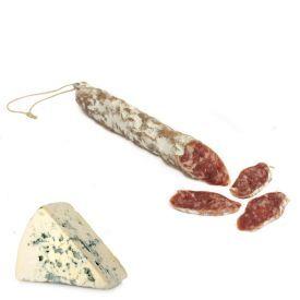 """Vytinta dešra """"Fuet extra"""" su mėlynojo pelėsio sūriu J.VILA,, 100g"""