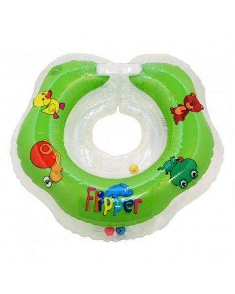 Pripučiamas plaukimo-maudymosi ratas FLIPPER Roxy Kids kūdikiams ant kaklo, įvairių spalvų