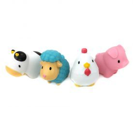 Purškiami žaislai voniai-naminiai gyvuliukai MUNCHKIN nuo 9 mėn., 4 vnt.