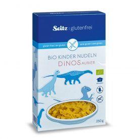 Ekologiški makaronai vaikams SEITZ dinozaurai, be gliuteno, 250 g