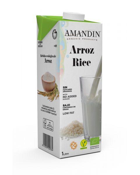 Ekologiškas ryžių gėrimas 20% AMANDIN, 1L