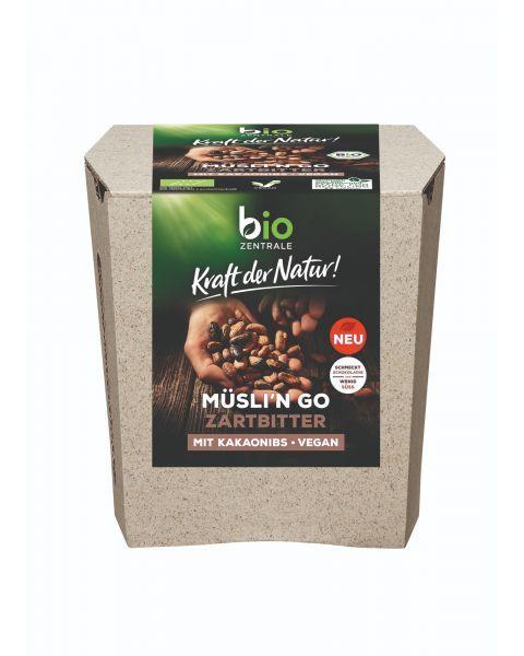 Ekologiški dribsniai MUESLI'N GO BIOZENTRALE su skaldyta kakava, 85 g