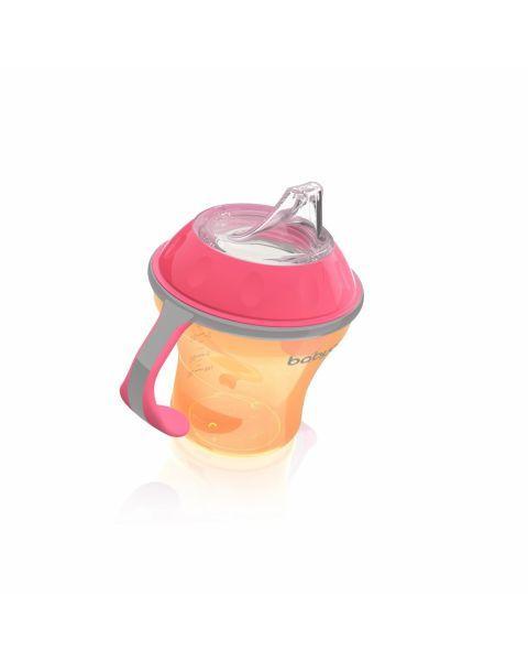 Neišsiliejantis puodelis BABYONO minkštu snapeliu vaikams nuo 3+ mėn., 180 ml (1456) 2
