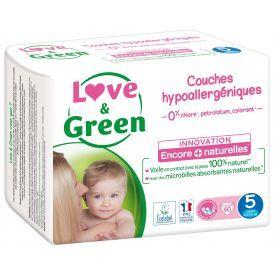 Ekologiškos sauskelnės LOVE&GREEN, 5 dydžio, 11-25 kg, 40 vnt.