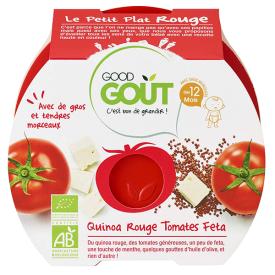 Ekologiškas pomidorų, kvinojos ir feta sūrio troškinys GOOD GOUT, 220g., nuo 12 mėnesių