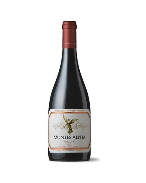 Raudonas sausas vynas MONTES Alpha Syrah 14,5%, 750 ml