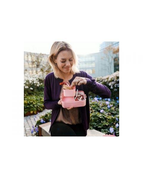 Vidutinio dydžio maisto dėžutė su skyreliais MEPAL Bento rožinė, 1 vnt. 2