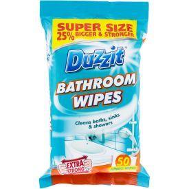 Drėgnos servetėlės vonios kambariui DUZZIT, 50 vnt.