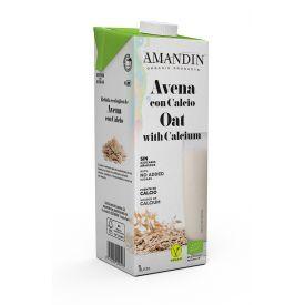 Ekologiškas avižų gėrimas su kalciu (15%) AMANDIN, 1L