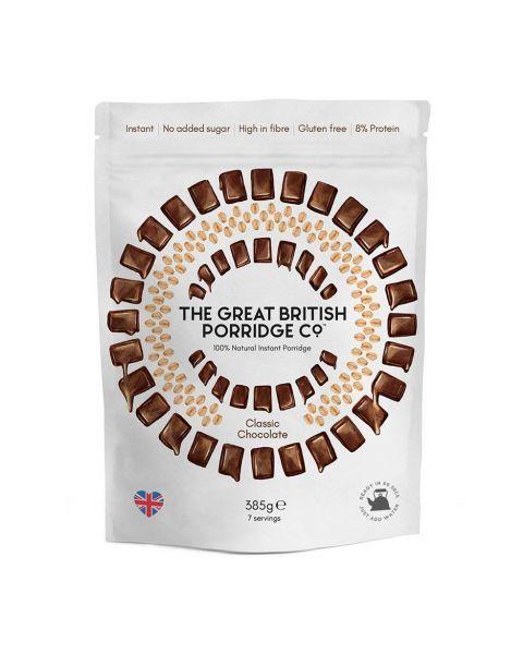 Greito paruošimo avižinė košė THE GREAT BRITISH PORRIDGE su šokoladu, 385 g