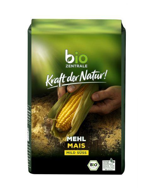 Ekologiški kukurūzų miltai BIOZENTRALE, 500 g 2