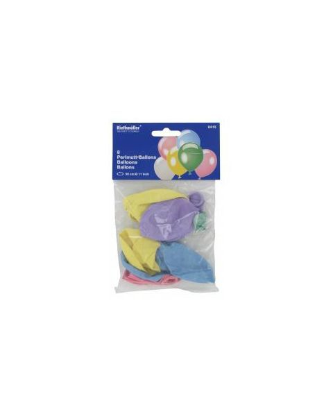 Margi, perlinio atspalvio balionai RIETHMULLER, 8 vnt. 2