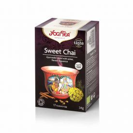 """Ekologiška arbata su saldžiais indiškais prieskoniais YOGI TEA """"Sweet Chai"""", 34 g"""